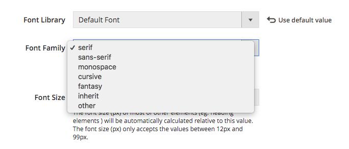 UB Theme Helper - Default font families