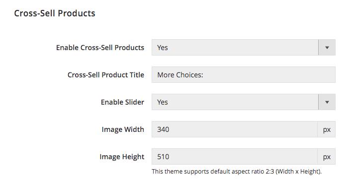 UB Theme Helper - Cross-sells Config