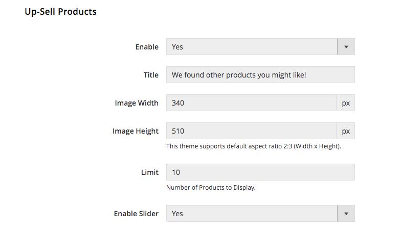 UB Theme Helper - Upsell Product