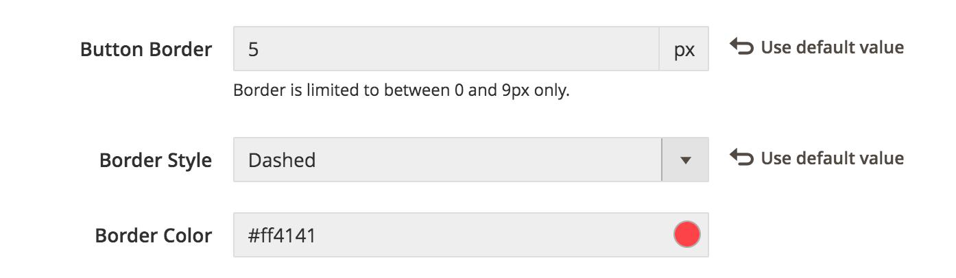 UB Theme Helper - Default Button border