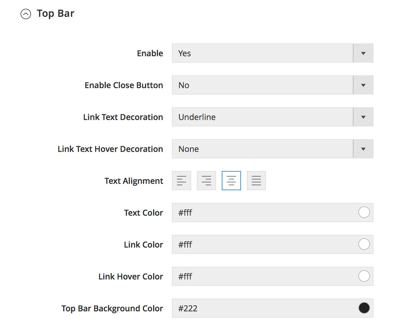 UB Theme Helper - Top bar