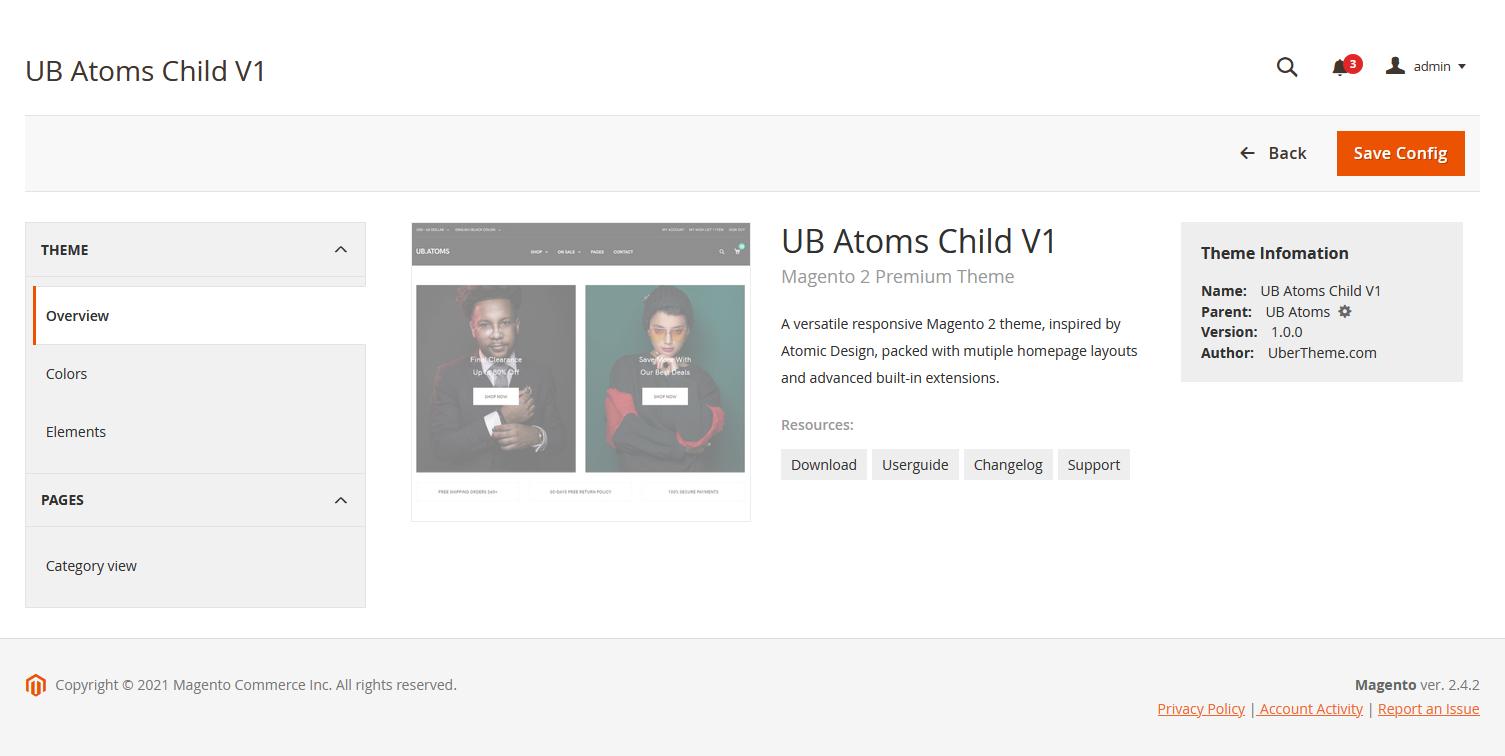 UB Theme Helper - Child Theme Config Panel