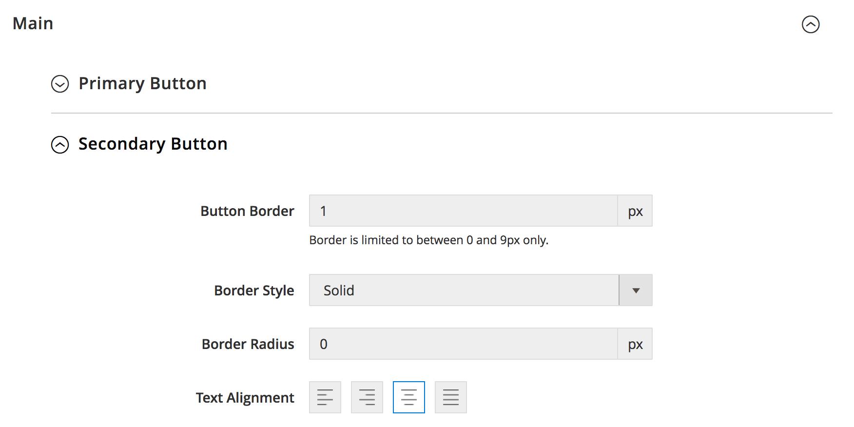 UB Theme Helper - Secondary Button