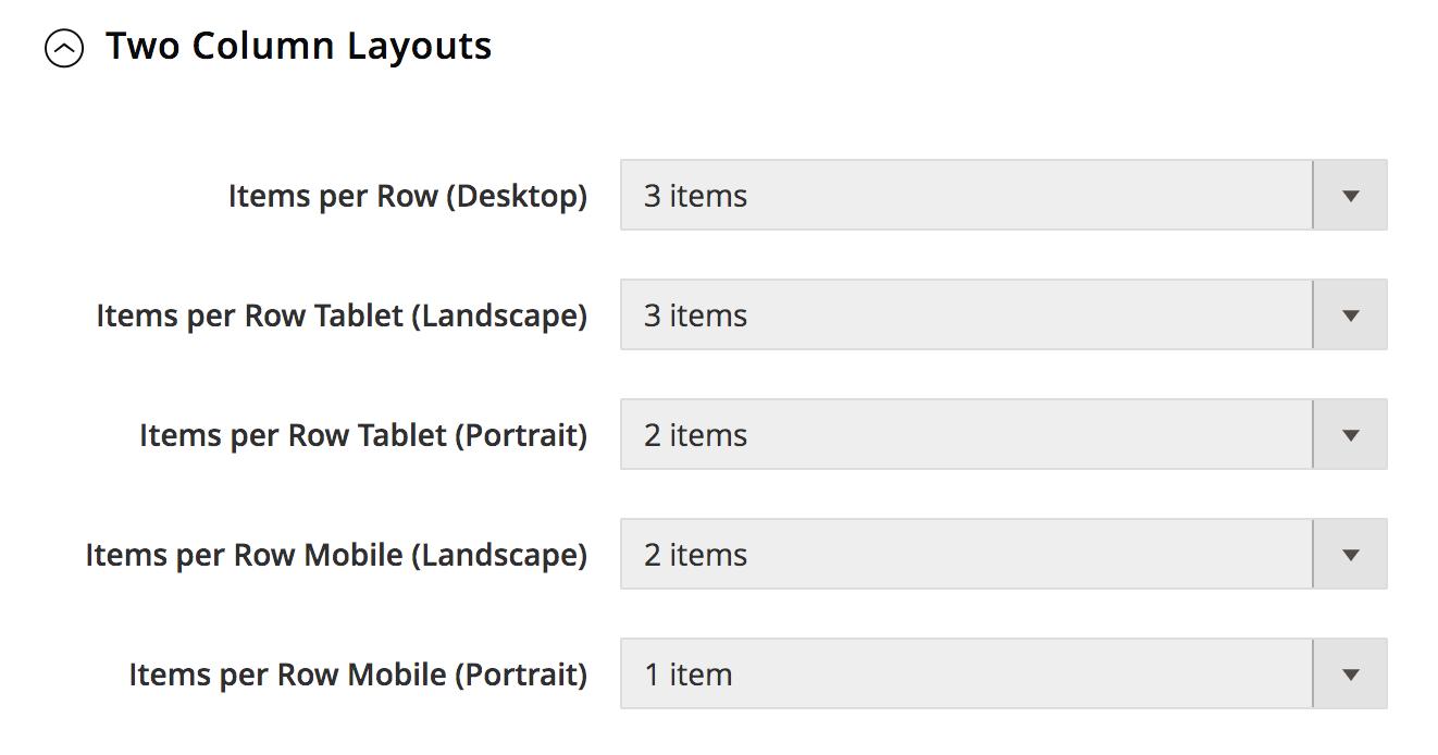 UB Theme Helper - Product Items per Row Landscape
