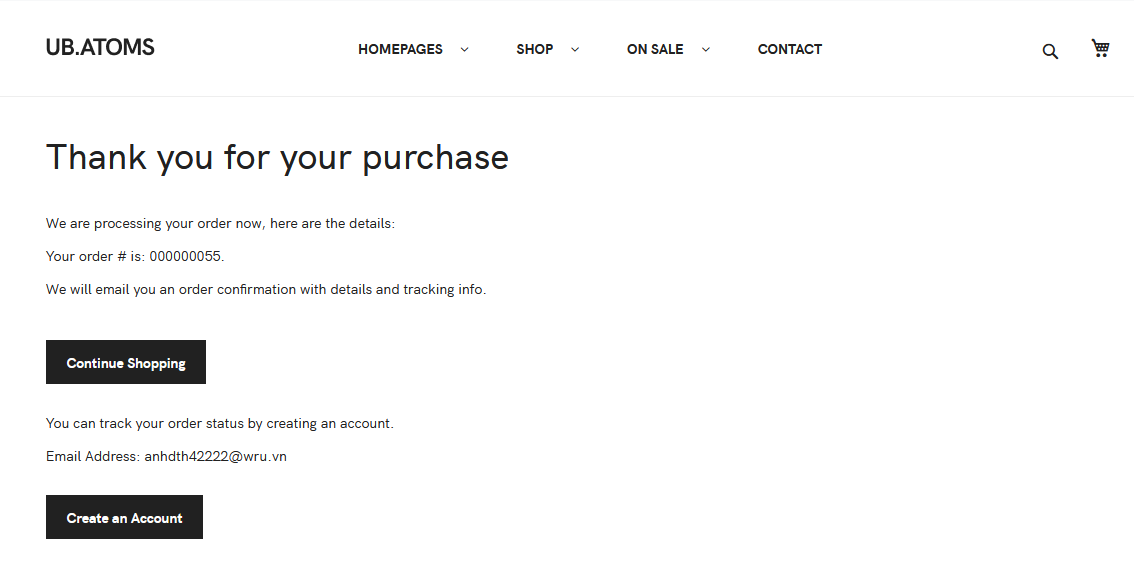 UB Theme Helper - Success Page